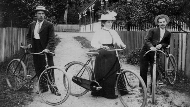 """All of these developments led to the biggest """"bike boom"""" boom on record in the 1890s"""