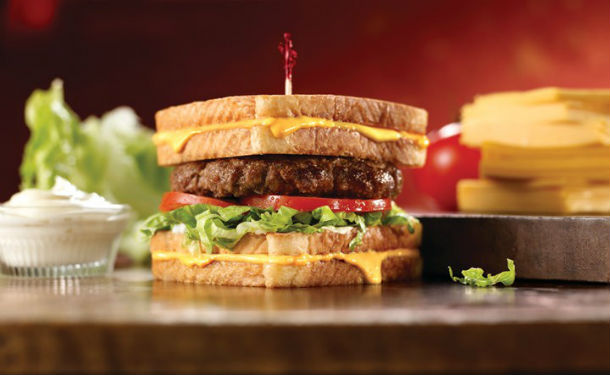 Friendly's Grilled Cheese Burger Melt