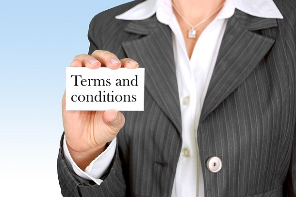 terms and conditions slip
