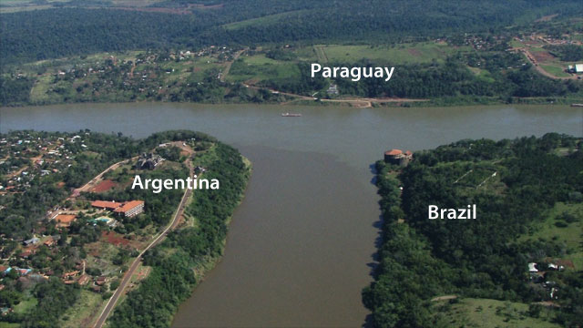 Argentina, Brazil, and Paraguay