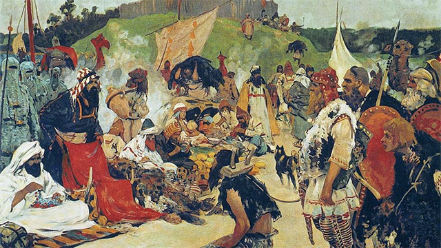 The slaves were known as thralls and were soled in markets across Europe and Asia