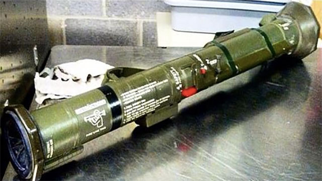 This used anti-tank weapon was confiscated at Arnold Palmer Regional Airport in Pennsylvania