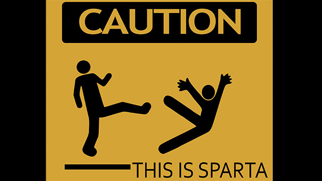 In fact, they would often partially shave the face of cowards, as cowardice was a crime in Spartan society