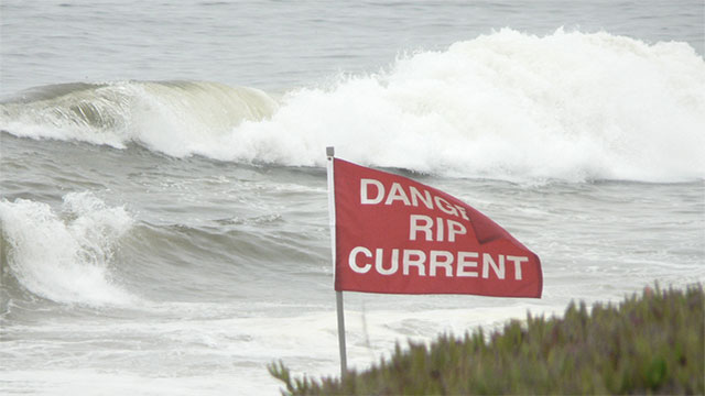 Always swim parallel to the shore if you are caught in a rip current