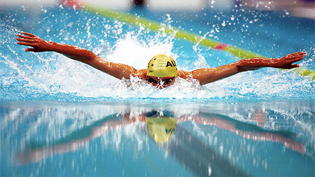 If you swim less than 30 minutes after eating you'll get a cramp