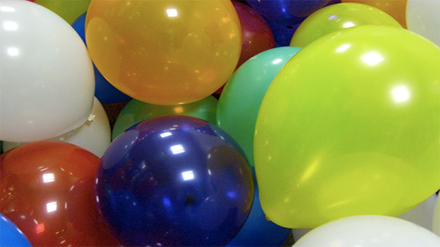 It is possible to blow up a balloon through your ears