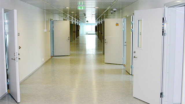 Halden, a high security prison in Norway, has flat screens TVs, en suite showers, and fluffy towels in each cell.