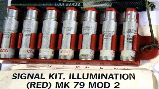 These high powered signal flares confiscated at Norfolk international Airport