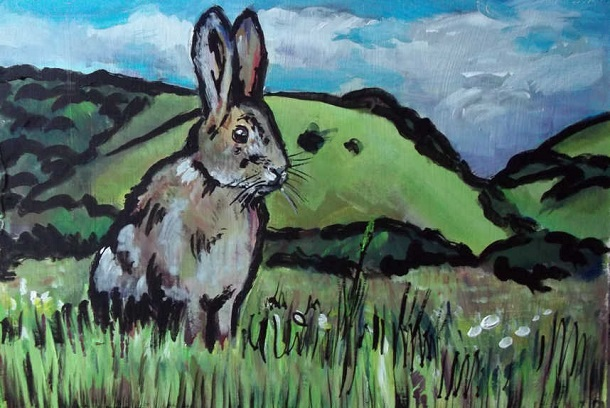 rabbit in front of watership down