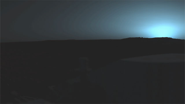 Sunsets are blue on Mars