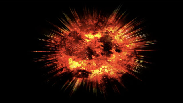 It is possible to outrun an explosion