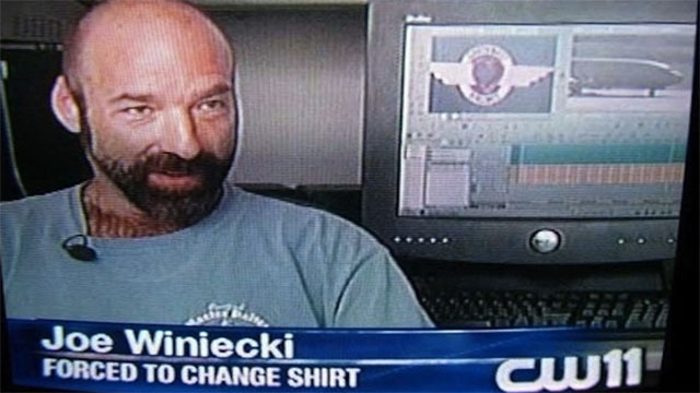 forced to change shirt