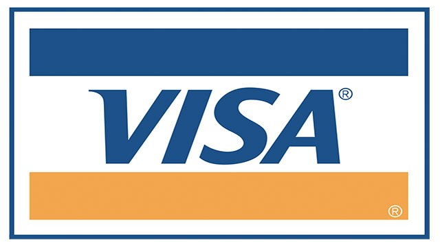 On the VISA logo, the blue represents the sky and gold represents the hills in California which is where Bank of America was founded (VISA used to belong to Bank of America)
