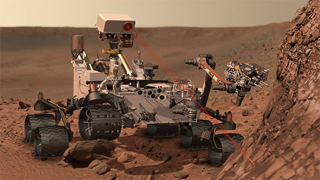 Currently, Mars's population is seven robots