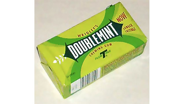 The first item to have a barcode was a Wrigley's pack of gum