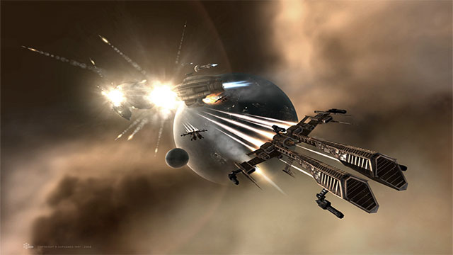 The internal gravity systems of spaceships always remain intact, regardless of the beating the ship takes