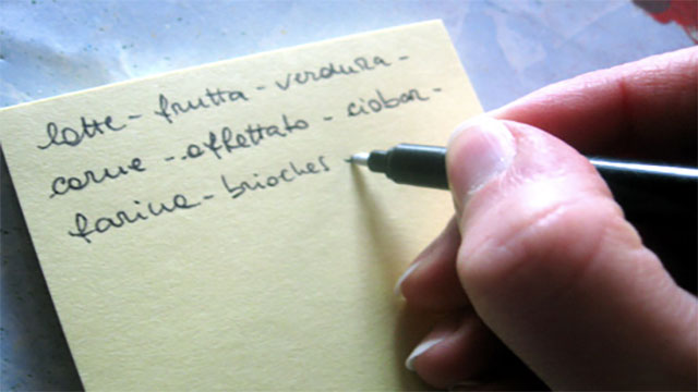 Create grocery lists before you go shopping and only buy the things on your list