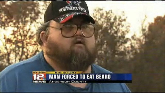 man forced to eat bread