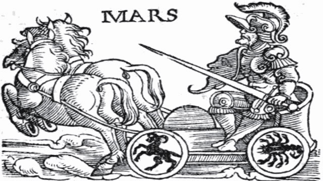The name Mars comes from the Roman god of war