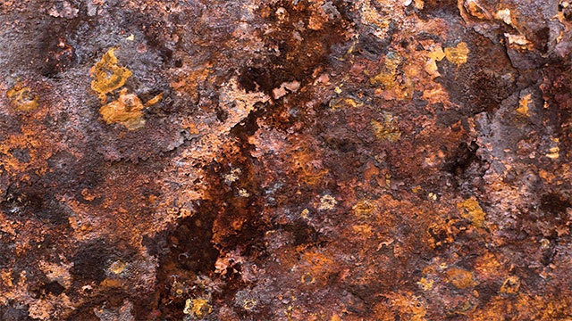 The reason Mars is red is because it is covered in rust (iron oxide)