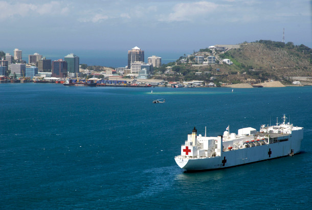 US_Navy_080811-N-8878B-434_The_Military_Sealift_Command_hospital_ship_USNS_Mercy_(T-AH_19)_anchored_off_the_coast_of_Papua_New_Guinea_in_support_of_Pacific_Partnership_2008