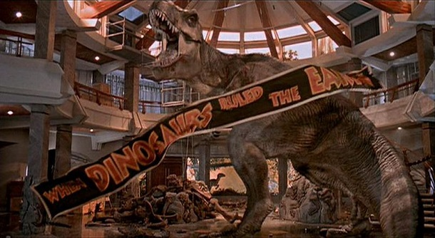 when dinosaurs ruled the earth sign - jurassic park
