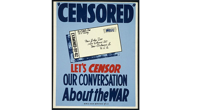 During Word War I, the United States passed the Sedition Act of 1918 which forbid citizens from speaking negatively of the US government or the war effort. It was repealed 2 years later