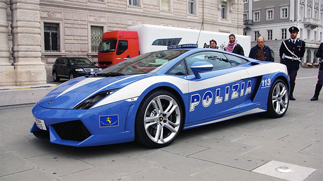 In 2008 a Lamborghini was donated to the Italian state police. A Gallardo LP560-4, it was the world's fastest police car. It was fully loaded and even came with an organ transplant cooler. It was crashed less than a year later.