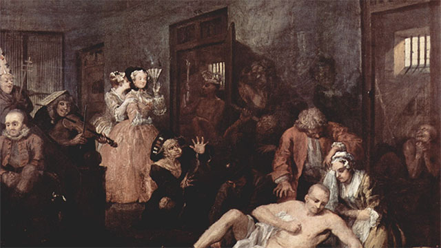 During the 18th Century people would pay to watch inmates at Bedlam Asylum. And on Tuesdays entry was free.