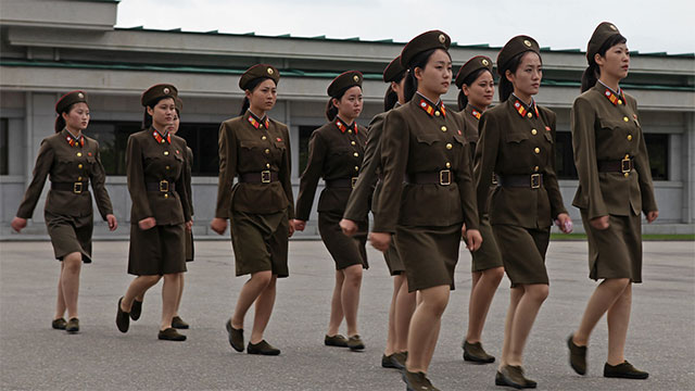 The average teenager in North Korea is roughly 8 inches shorter than the average teenager in South Korea. This is almost exclusively due to malnutrition