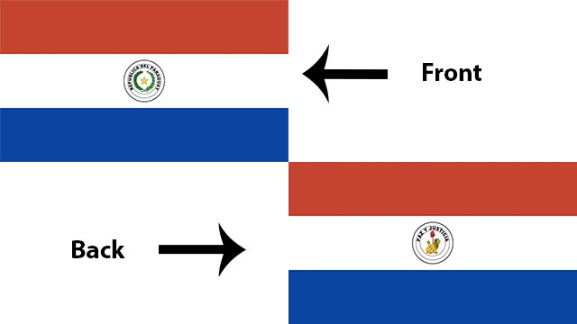 The flag of Paraguay is the only national flag in the world with different emblems on its obverse and reverse sides.