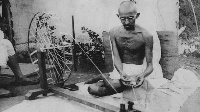When Gandhi once went to meet the King of England wearing only a loincloth he was asked whether he felt underdressed. He replied that the King wears enough clothes for the both of them