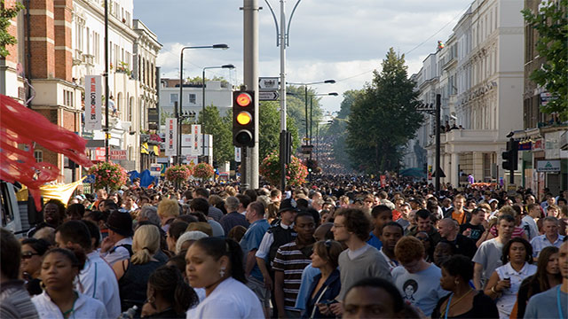 London is a minority majority city. This is because as of 2011 less than half of the population is white (49.9%).