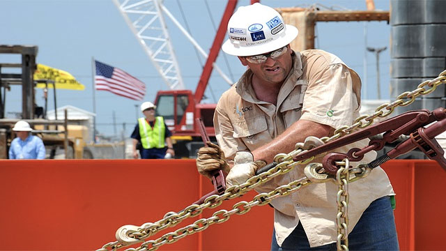 An average salary for an oil rig worker was about 100,000 USD in 2011