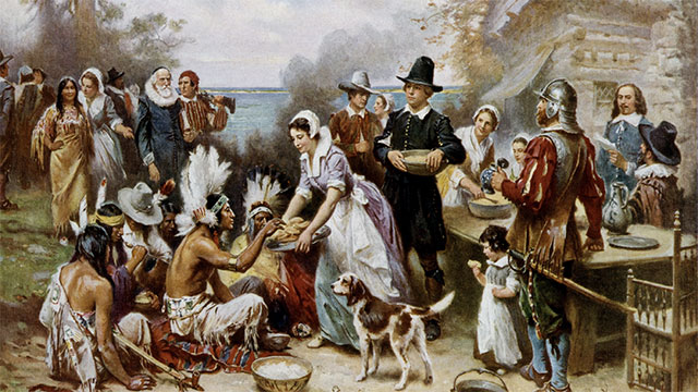Much to their surprise, the first pilgrims at Plymouth Colony were greeted by a native american in English (his name was Samoset and he had begun to learn English from fisherman along the coast)