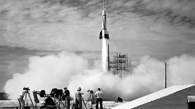 """The scientist that designed the V2 rocket for the Germans (Wernher Von Braun) always wanted to go to space. Unfortunately, his rocket was instead used as a weapon. After the bombing of London he was famous for noting that """"the rocket worked perfectly except for landing on the wrong planet"""""""