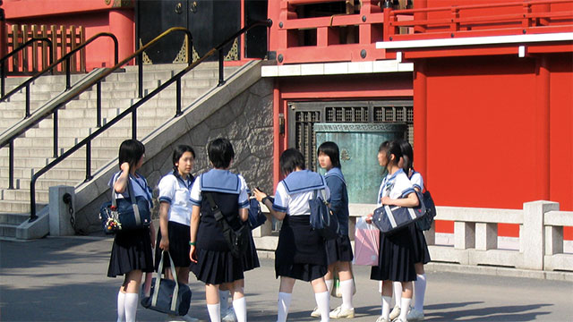 Many schools in Japan don't have janitors. It is the kids who do the janitor's job because cleanliness is seen as being related to morality.