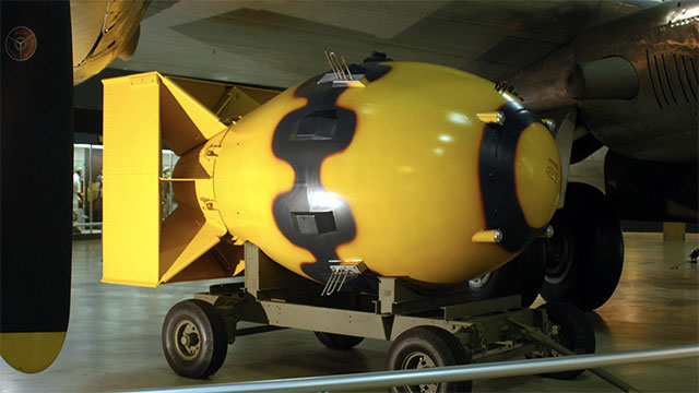 The US dropped nearly 50 pumpkin bombs (practice bombs) on Japan before the two big ones. These pumpkin bombs were non-nuclear versions of fat man and little boy (the nukes that were dropped)