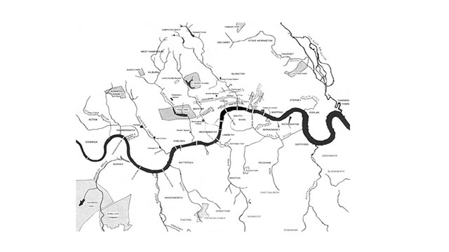 London has around 20 subterranean rivers flowing beneath its streets
