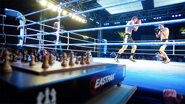Chess boxing is an up-and-coming sport in London. Just like it sounds, players alternate between rounds of chess and round of boxing