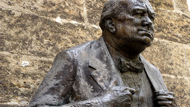 """Churchill's epitaph reads """"I am ready to meet my Maker. Whether my Maker is prepared for the great ordeal of meeting me is another matter."""""""