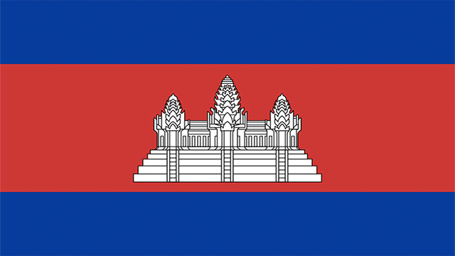 Cambodia and Afghanistan are the only two flags to feature buildings in their design