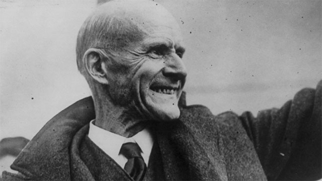 While serving 10 years in prison for a speech he had given, Eugene Debs ran for president in 1920 and received over a million votes