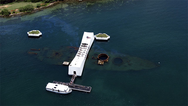 The USS Arizona has been leaking oil ever since it sank in Pearl Harbor during the attack in 1941