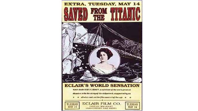 The first Titanic movie was released less than a month after the sinking (Saved From The Titanic). It starred an actress who had actually survived the sinking