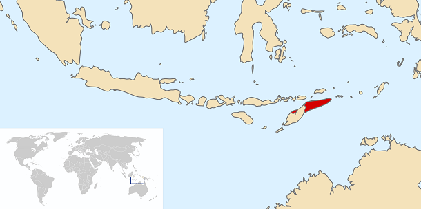east timor on map