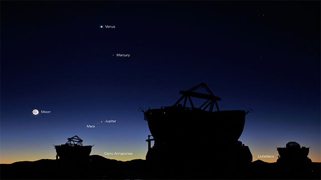 Mars is one of 5 planets you can see with your naked eye (Mars, Venus, Mercury, Saturn, and Jupiter)