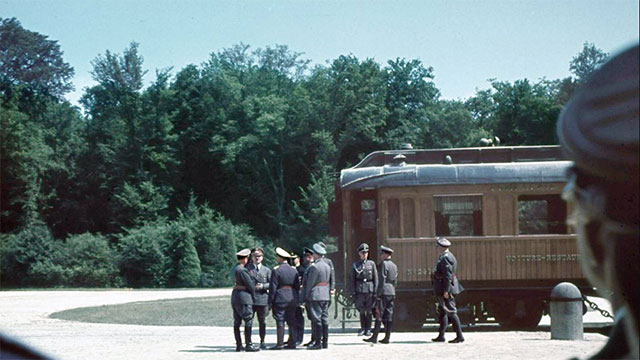 After WWI, France took the railway cars where Germany signed the official surrender document and put them in a museum. When Germany overran France in WWI, Hitler ordered the railroad cars to be but back in the exact same spot where they used to be in order to humiliate the French