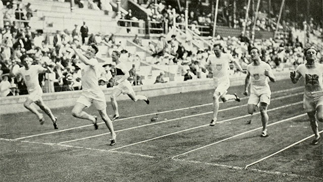 The modern length of a marathon (26.2 miles) was established at the 1908 London Games. Before that, marathons varied in their distance even though they were based on the run of Phidippides