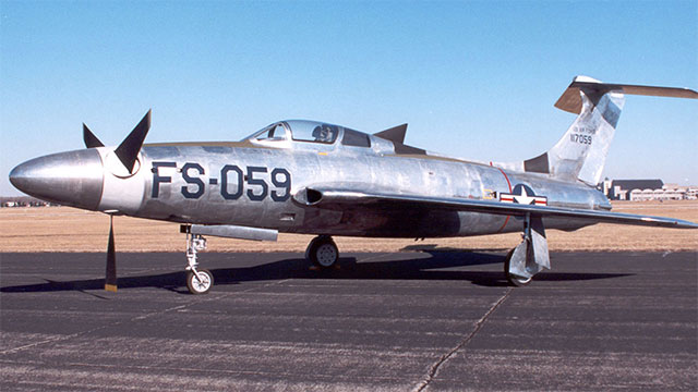 The XF-84H was the loudest plane ever built. It was said that while on the ground it would create visible sonic booms and even knock people over